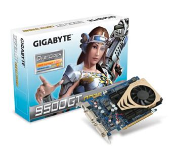 Gigabyte GeForce 9500 GT series graphics card