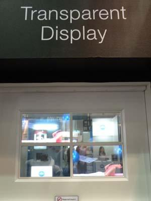 Samsung SDI's transparent display