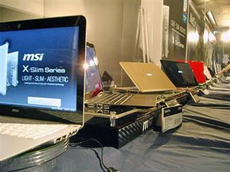 MSI CULV-based X-slim ultra-slim notebooks include X320, X340 and X600
