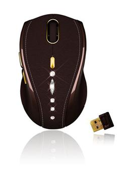 Gigabyte GM-M7800S wireless mouse crafted with Swarovski crystal