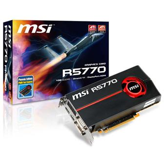 MSI R5770-PM2D1G graphics card