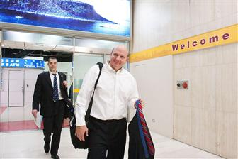 Microsoft CEO Steve Ballmer arrives in Taipei
