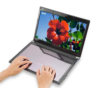 AUO 14-inch solar-power touch keyboard notebook solution