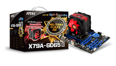 MSI X79A-GD65 (8D) mainboard with Thermaltake Frio Advanced CPU Cooler