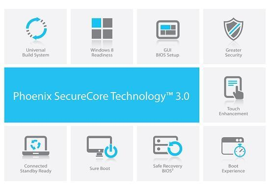 Phoenix Technologies launches EDK II compatible UEFI BIOS: Phoenix SecureCore Technology 3.0