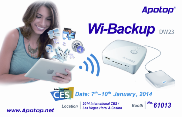 Apotop to showcase its app-enabled portable multifunctional Wi-Fi devices at CES 2014