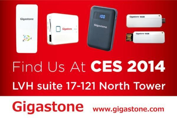Gigastone set to make North American debut at CES 2014