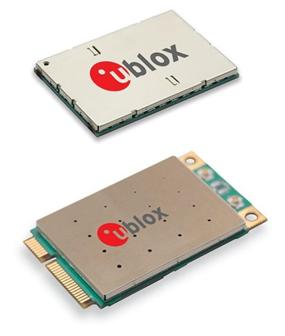 u-blox' TOBY-L2 and MPCI-L2 4G LTE modules support high-bandwidth automotive, networking and video applications with 2G and 3G fallback