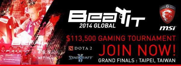 Massive $110000 up for grabs during MSI Beat IT 2014 Global