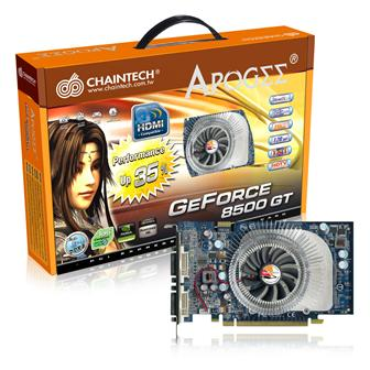 Chaintech+GAE85GT+graphics+card+based+on+Nvidia+GeForce+8500GT