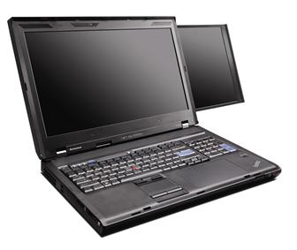 Lenovo ThinkPad W700ds doubel-screen mobile workstation