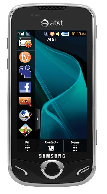 Samsung Mythic touchscreen handset with AT&T Mobile TV capability