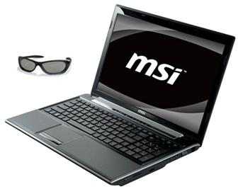 MSI FR600 3D notebook