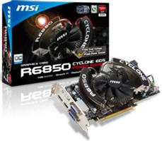 MSI R6850 Cyclone 1GD5 Power Edition graphics card