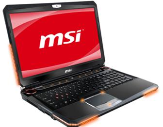 MSI GT680 gaming notebook