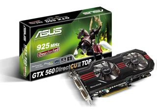Asustek GTX 560 DirectCU II TOP graphics card