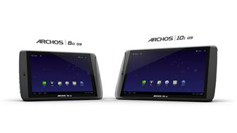 Archos G9-series tablets featuring Seagate HDD