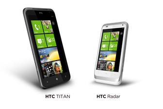 HTC Titan and HTC Radar