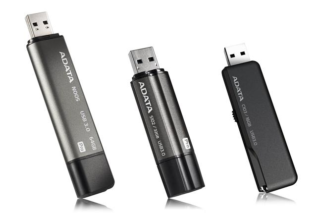 Adata USB 3.0 flash drive lineup