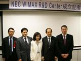 NEC opens WiMAX R&D Center in Taiwan.