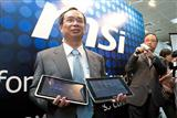 MSI chairman shows Wind Pad 100 and 110