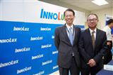 Innolux chairman Wang Jyh-chao (left) and president Robert Hsiao