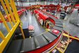 Automated sorting process at JD.com's logistics center in Kunshan City