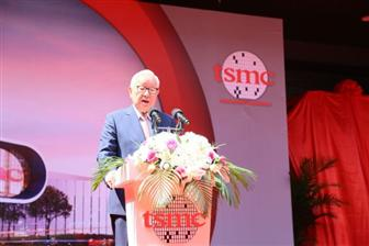 TSMC+chairman+Morris+Chang+at+the+ceremony+to+mark+the+start+of+equipment+move%2Din+at+the+company%27s+
