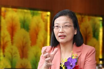GlobalWafers chairwoman and SAS president Doris Hsu