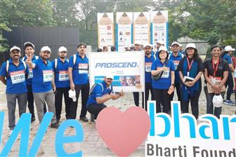 The+staff+of+Proscend+attend+the+11th+edition+of+Airtel+Delhi+Half+Marathon