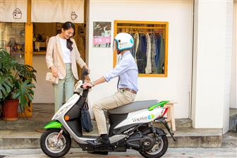 A+WeMo+rental+electric+scooter