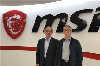 MSI+chairman+Joseph+Hsu+%28left%29+and+president+Jeans+Huang+%28right%29
