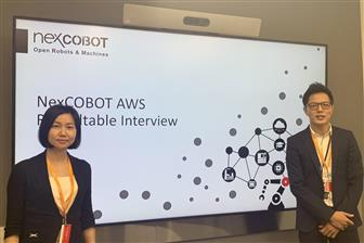 Nexcobot general manager Jenny Shern (left)
