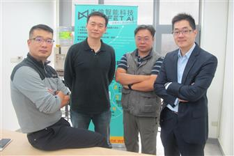 Profet AI founder and president Jerry Huang (left first)