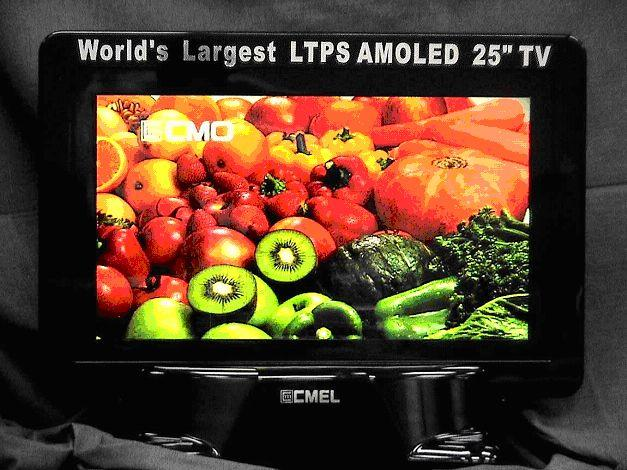 CMO and CMEL develop 25-inch AM OLED TV panel