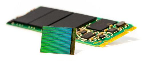 3D NAND die with M.2 SSD