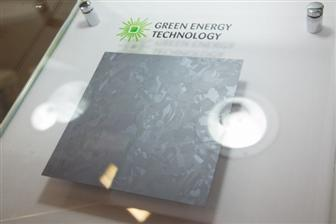 A+solar%2Dgrade+crystalline+siliocn+wafer+produced+by+Green+Energy+Technology