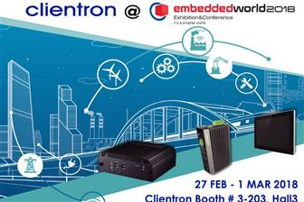 Clientron to exhibit its latest embedded computing and intelligent solutions at Embedded World 2018