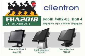 Clientron to display its latest POS terminals at FHA 2018