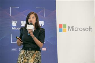 Microsoft+Taiwan+chief+operating+officer+Hedy+Ho+at+AI+Solution+Day