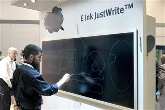 EIH showcasing its JustWrite e-paper technology at Display Week 2019