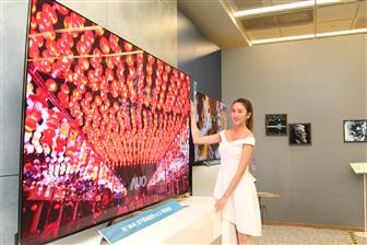 An 8K large-size LCD TV