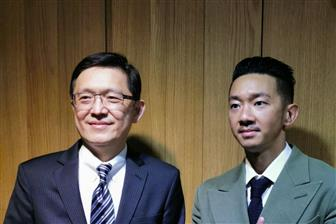 East Tender chairman CT Chen (right) and vice chairman LC Su