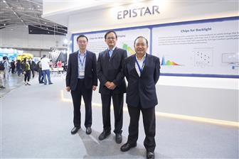 Epistar+president+Patrick+Fan+%28front%29+and+Lextar+Electronics+chairman+David+Su+%28center%29+at+Touch+Ta